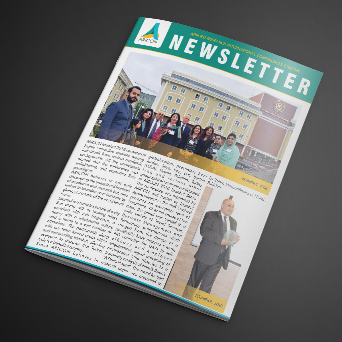 ARICON Newsletter Design